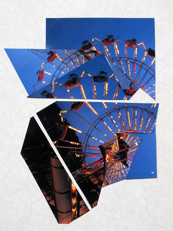 Ferris Wheel  (collages, Collage) - Fine Art by Donald G. Vogl, Fort Collins, Colorado