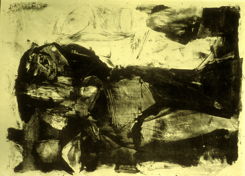 Figure Reclining  (abstracts figures, Lithograph) - Fine Art by Donald G. Vogl, Fort Collins, Colorado