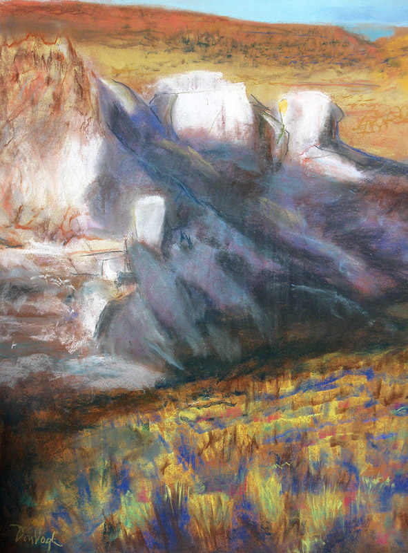 Flaming Gorge Wyoming (landscapes, Pastel) - Fine Art by Donald G. Vogl, Fort Collins, Colorado