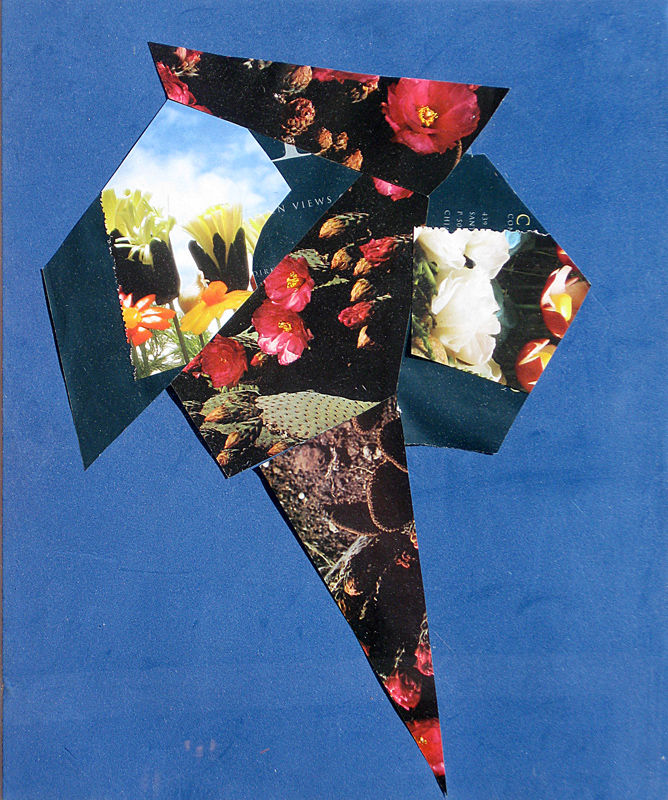 Flowers in a Cone  (collages, Collage) - Fine Art by Donald G. Vogl, Fort Collins, Colorado
