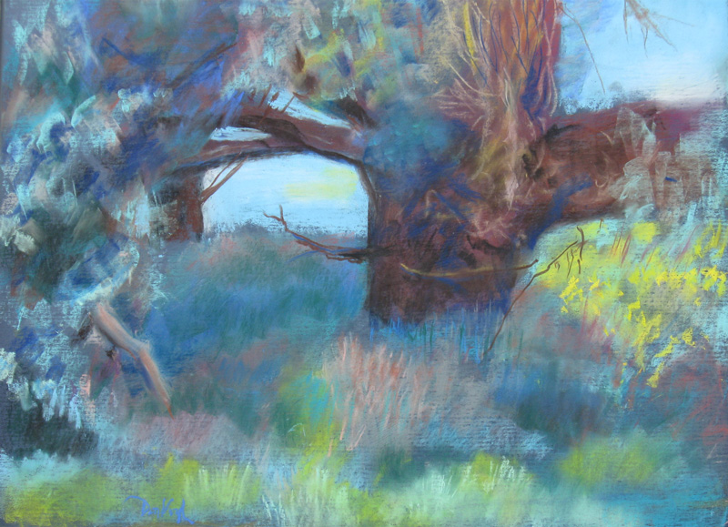 Forest Nook Colorado (landscapes, Pastel) - Fine Art by Donald G. Vogl, Fort Collins, Colorado