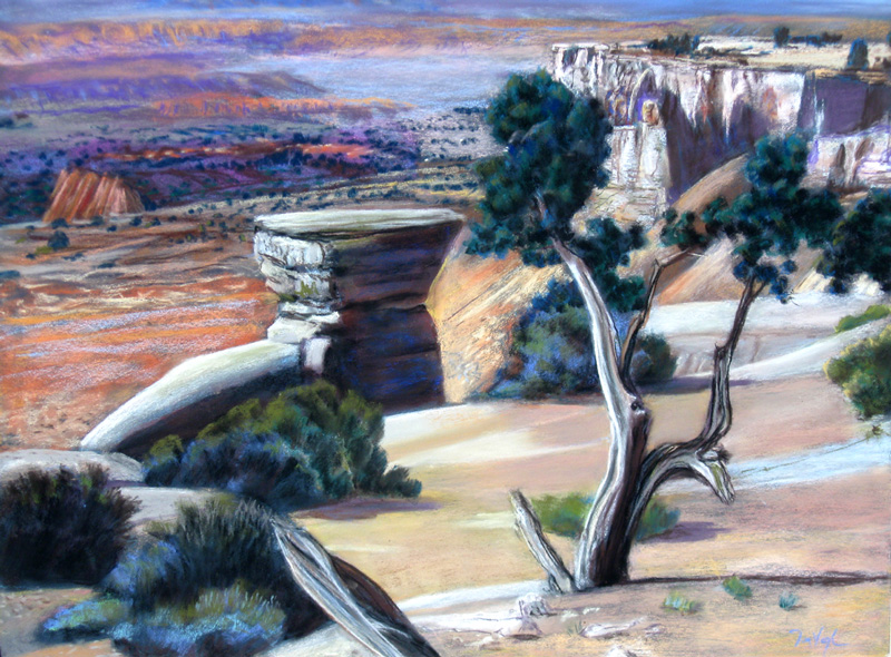 Forever Canyon Utah (landscapes, Pastel) - Fine Art by Donald G. Vogl, Fort Collins, Colorado