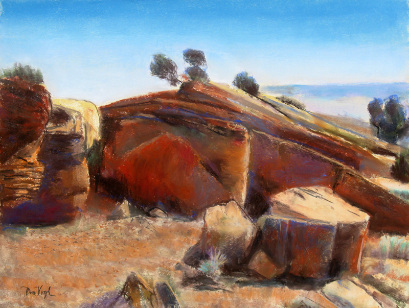 The Fortress San Rafael Swell, Utah (landscapes, Pastel) - Fine Art by Donald G. Vogl, Fort Collins, Colorado