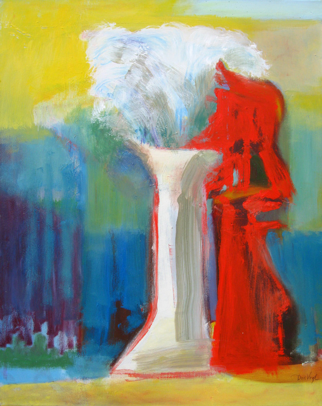 Fountain of Youth  (abstracts figures, Oil) - Fine Art by Donald G. Vogl, Fort Collins, Colorado