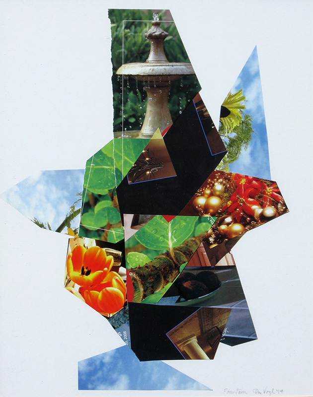Fountain  (collages, Collage) - Fine Art by Donald G. Vogl, Fort Collins, Colorado
