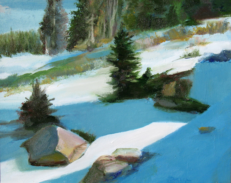 Fresh Snow Rocky Mountain National Park, Colorado (landscapes, Oil) - Fine Art by Donald G. Vogl, Fort Collins, Colorado