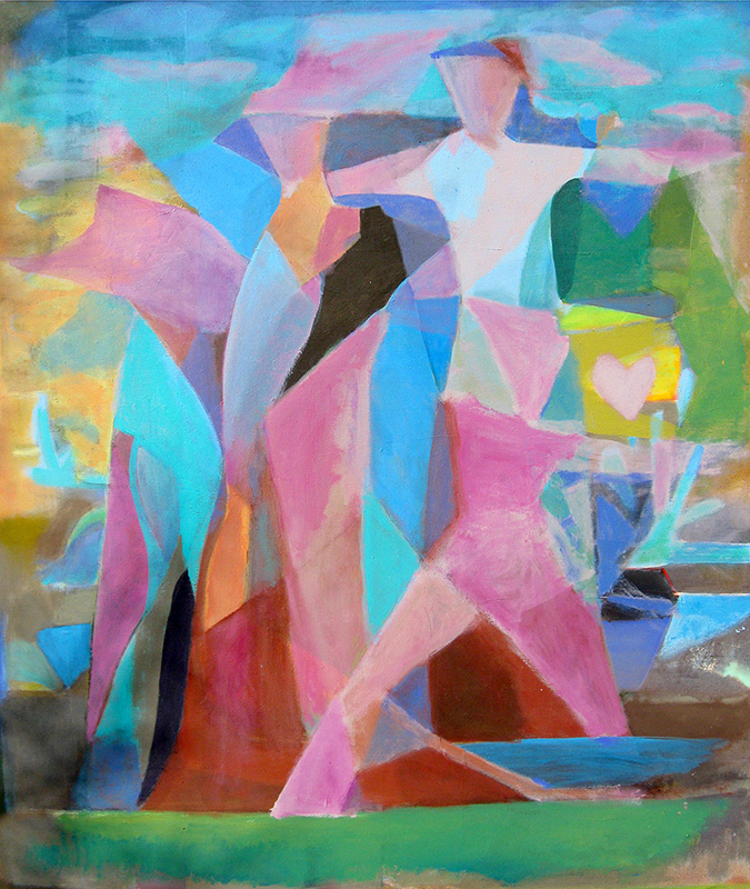 Fun Day  (abstracts figures, Acrylic) - Fine Art by Donald G. Vogl, Fort Collins, Colorado