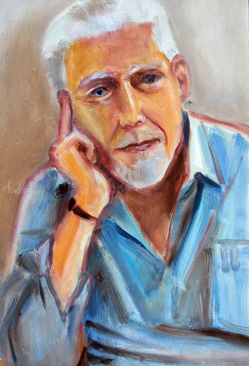 Gene Tanski  (portraits, Acrylic) - Fine Art by Donald G. Vogl, Fort Collins, Colorado