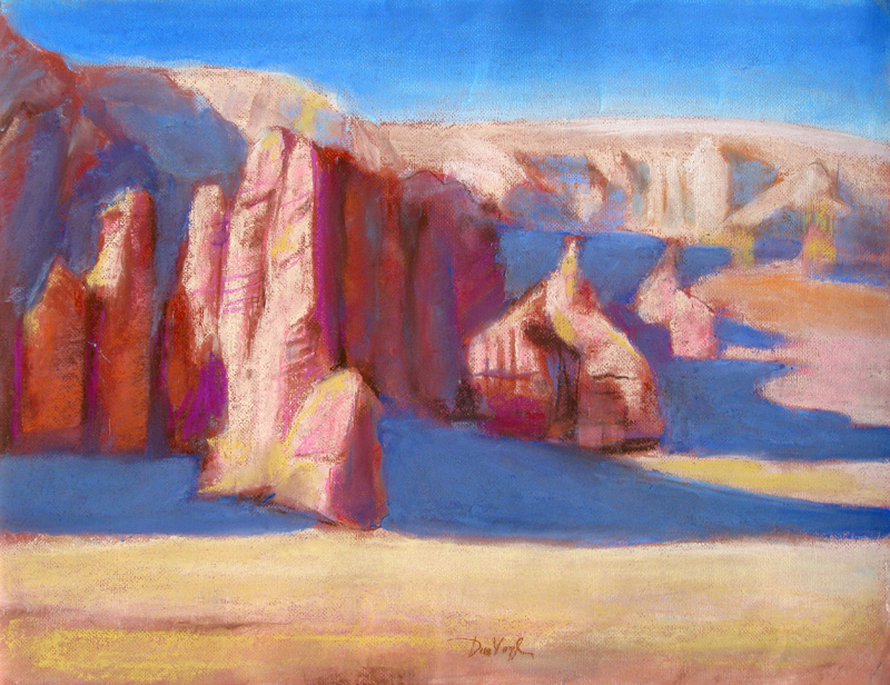 Edge of Goblin Park Goblin Valley State Park, Utah (landscapes, Pastel) - Fine Art by Donald G. Vogl, Fort Collins, Colorado