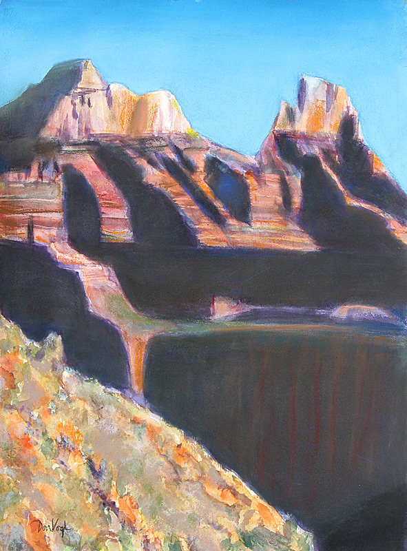 Grand Canyon Shadows Grand Canyon, Arizona (landscapes, Pastel) - Fine Art by Donald G. Vogl, Fort Collins, Colorado