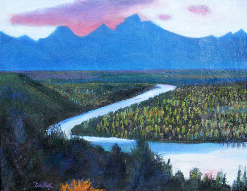 Grand Tetons Grand Teton National Park, Wyoming (landscapes, Pastel) - Fine Art by Donald G. Vogl, Fort Collins, Colorado