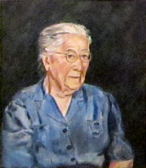 Grandma Wisconsin (portraits, Oil) - Fine Art by Donald G. Vogl, Fort Collins, Colorado