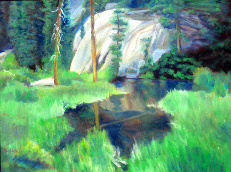 Green Pool, Dream Lake Rocky Mountain National Park, Colorado (landscapes, Oil) - Fine Art by Donald G. Vogl, Fort Collins, Colorado