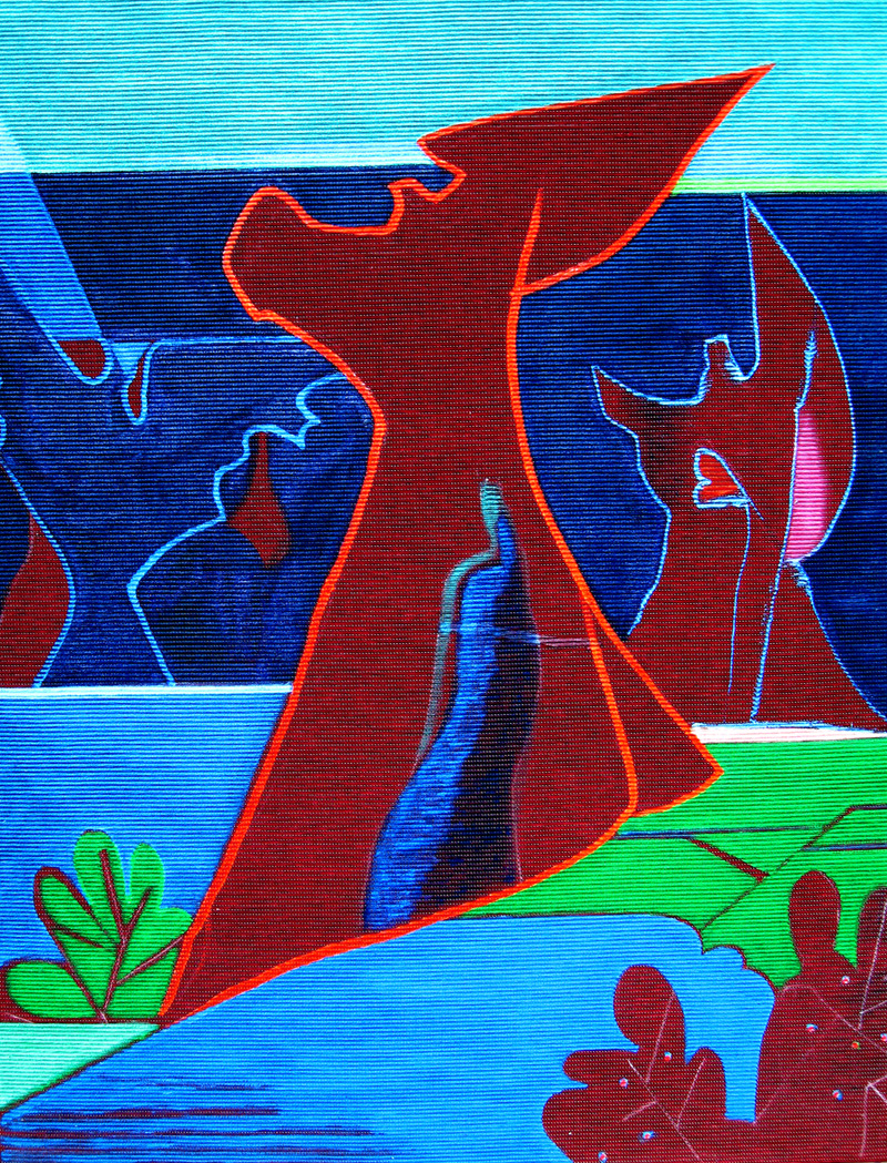 Guardians  (abstracts figures, Acrylic) - Fine Art by Donald G. Vogl, Fort Collins, Colorado