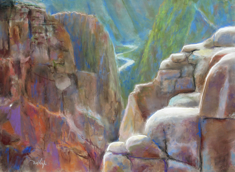 Gunnison Canyon Gunnison, Colorado (landscapes, Pastel) - Fine Art by Donald G. Vogl, Fort Collins, Colorado
