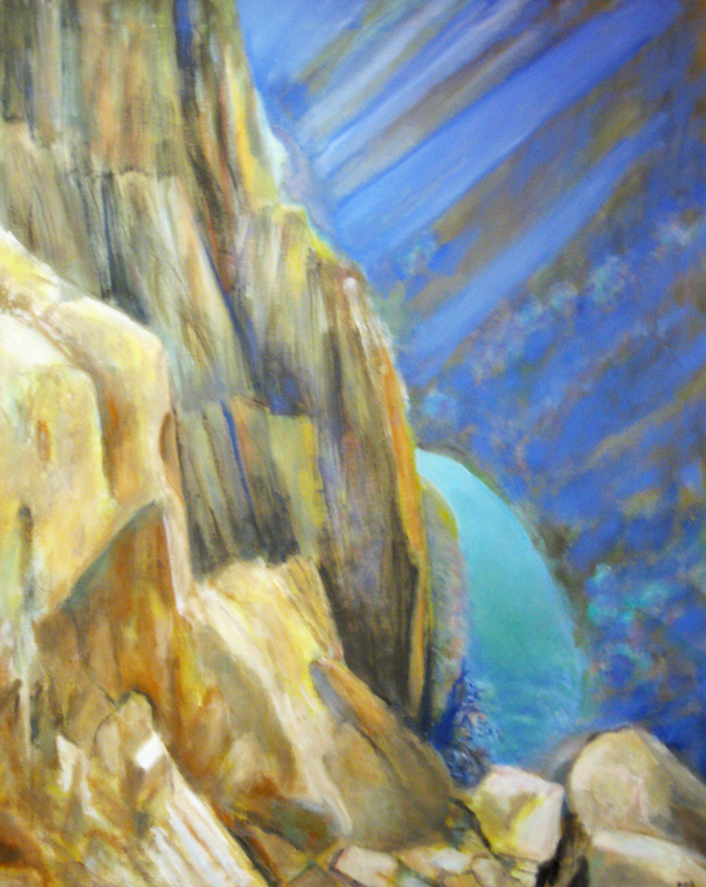 Gunnison Canyon Walls Colorado (landscapes, Oil) - Fine Art by Donald G. Vogl, Fort Collins, Colorado