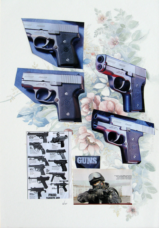 Guns and Roses  (collages, Collage) - Fine Art by Donald G. Vogl, Fort Collins, Colorado