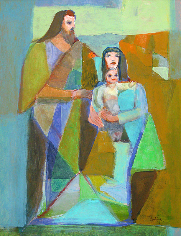 Holy Family  (christian, Acrylic) - Fine Art by Donald G. Vogl, Fort Collins, Colorado