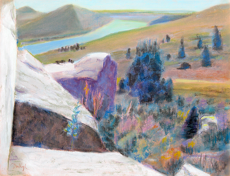Horsetooth Heights Fort Collins, Colorado (landscapes, Pastel) - Fine Art by Donald G. Vogl, Fort Collins, Colorado