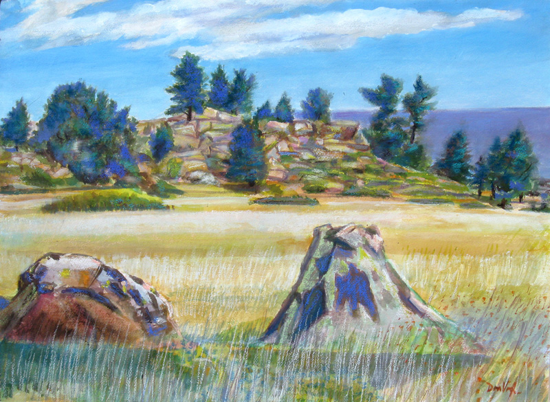 Rock Formations (Horsetooth) Fort Collins, Colorado (landscapes, Watercolor and Pastel) - Fine Art by Donald G. Vogl, Fort Collins, Colorado