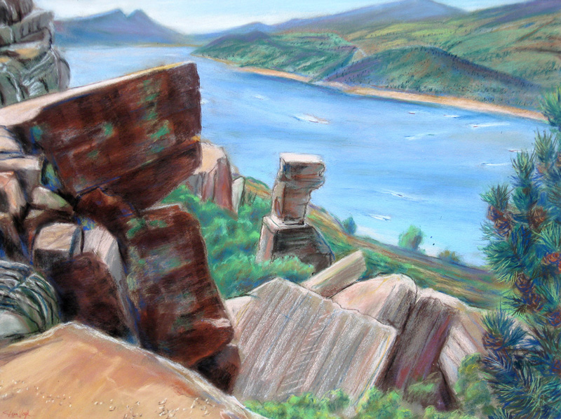 Horsetooth Reservoir Fort Collins, Colorado (landscapes, Pastel) - Fine Art by Donald G. Vogl, Fort Collins, Colorado