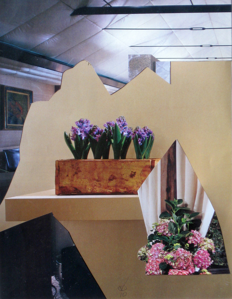 Hyacinth  (collages, Collage) - Fine Art by Donald G. Vogl, Fort Collins, Colorado