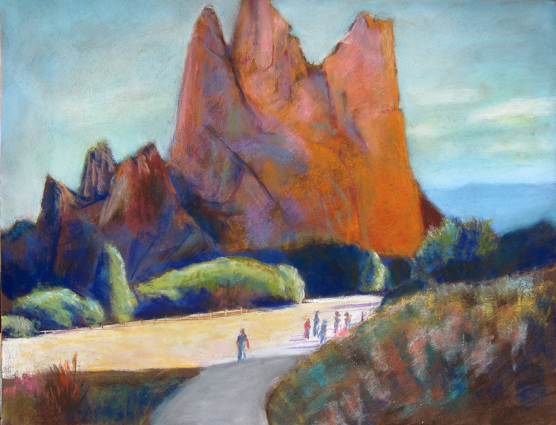 In the Garden Garden of the Gods, Colorado Springs, Colorado (landscapes, Pastel) - Fine Art by Donald G. Vogl, Fort Collins, Colorado