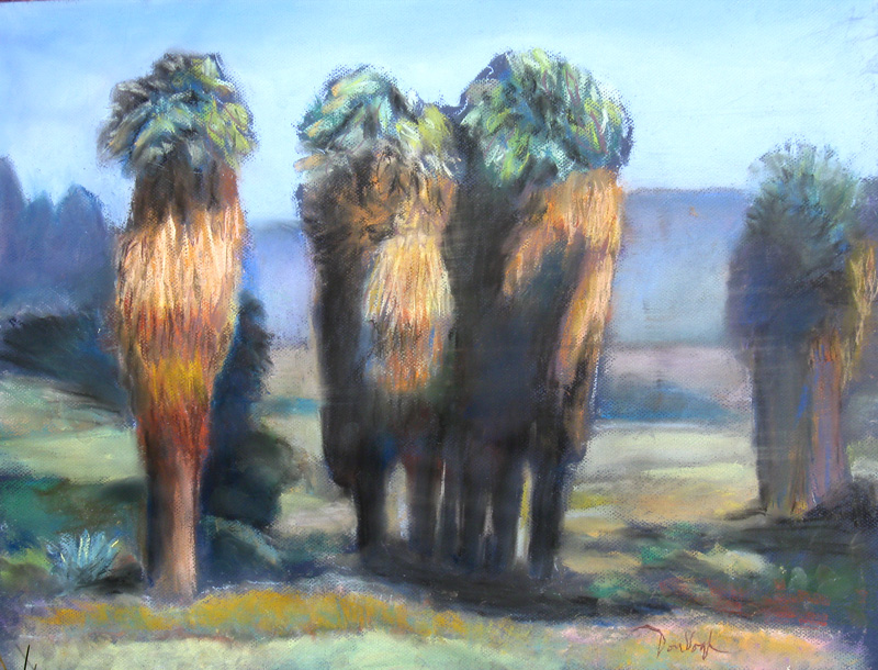 Indio Palms California (landscapes, Pastel) - Fine Art by Donald G. Vogl, Fort Collins, Colorado