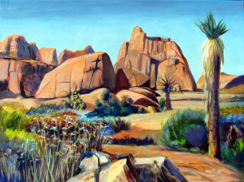 Joshua Tree Joshua Tree National Park, California (landscapes, Acrylic and Oil) - Fine Art by Donald G. Vogl, Fort Collins, Colorado