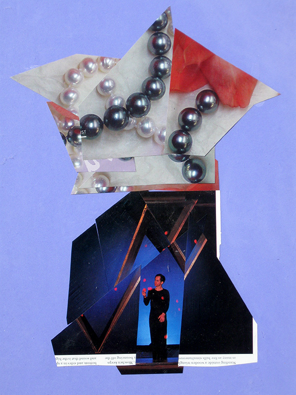 Juggler  (collages, Collage) - Fine Art by Donald G. Vogl, Fort Collins, Colorado