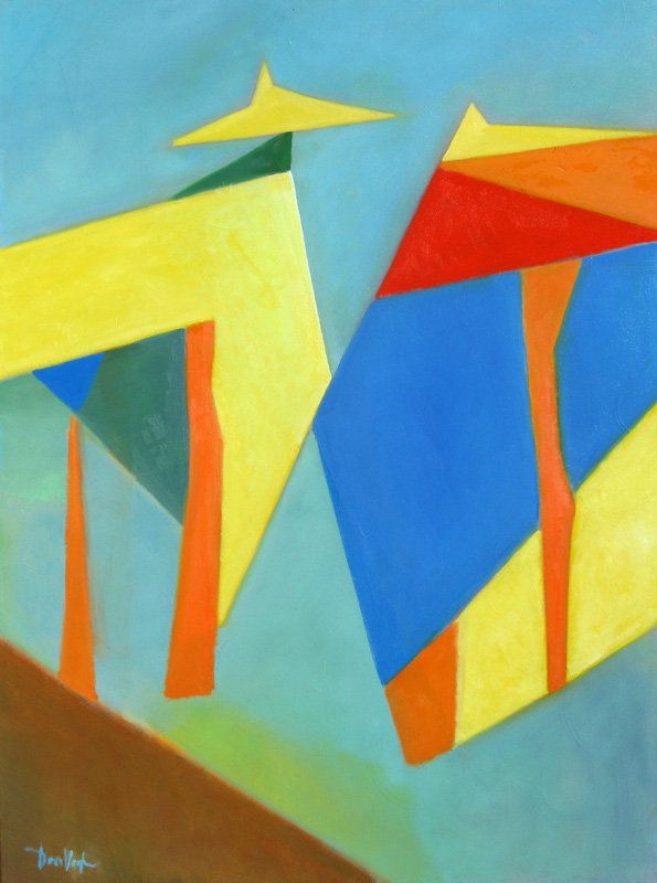 Kites  (abstracts, Acrylic) - Fine Art by Donald G. Vogl, Fort Collins, Colorado