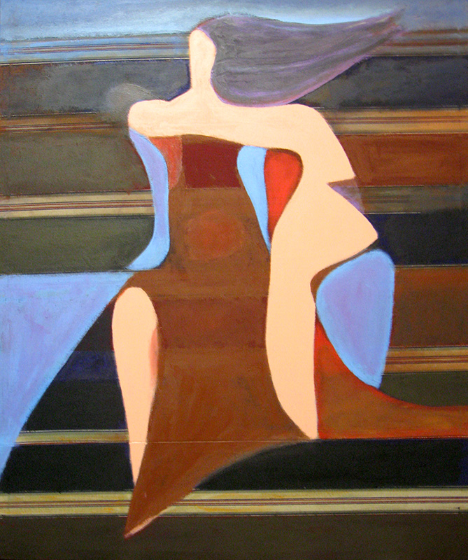Lady of the Lake  (abstracts figures, Acrylic) - Fine Art by Donald G. Vogl, Fort Collins, Colorado