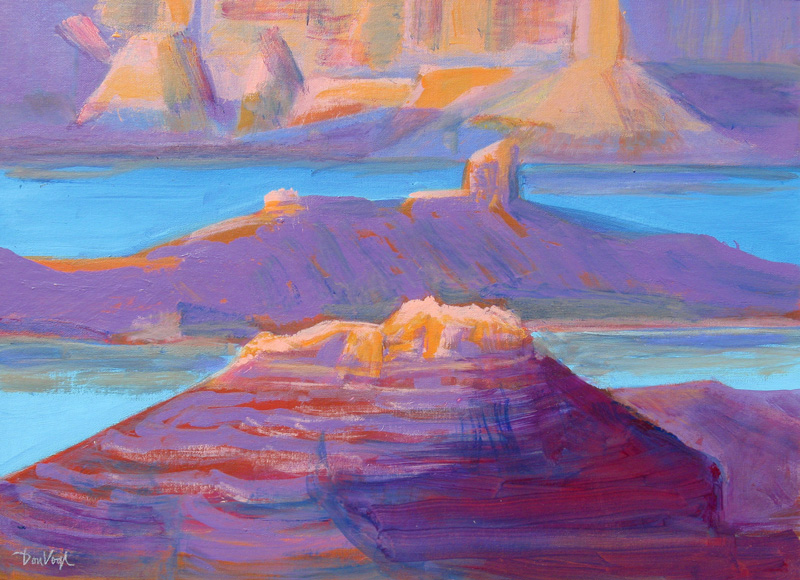 Lake Powell Arizona (landscapes, Oil) - Fine Art by Donald G. Vogl, Fort Collins, Colorado