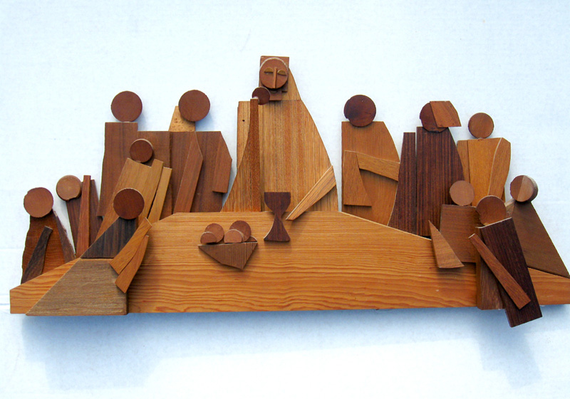 Last Supper  (sculptures christian, Wood) - Fine Art by Donald G. Vogl, Fort Collins, Colorado