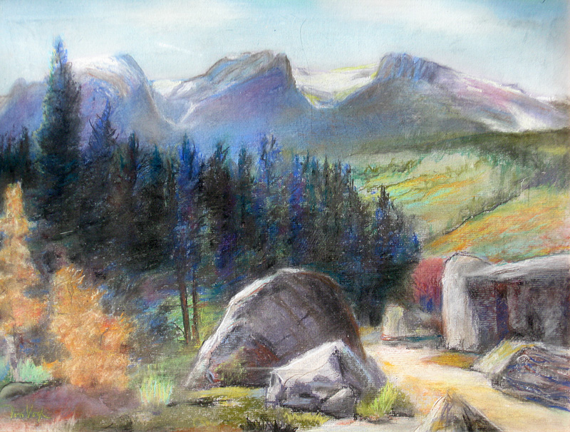 Late Fall Rocky Mountain National Park, Colorado (landscapes, Pastel) - Fine Art by Donald G. Vogl, Fort Collins, Colorado