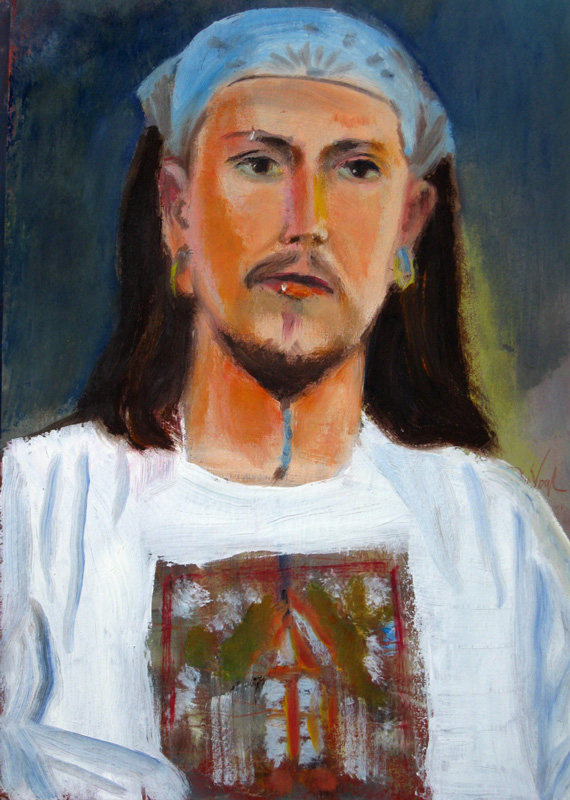 Latest Style  (portraits, Oil on Board) - Fine Art by Donald G. Vogl, Fort Collins, Colorado