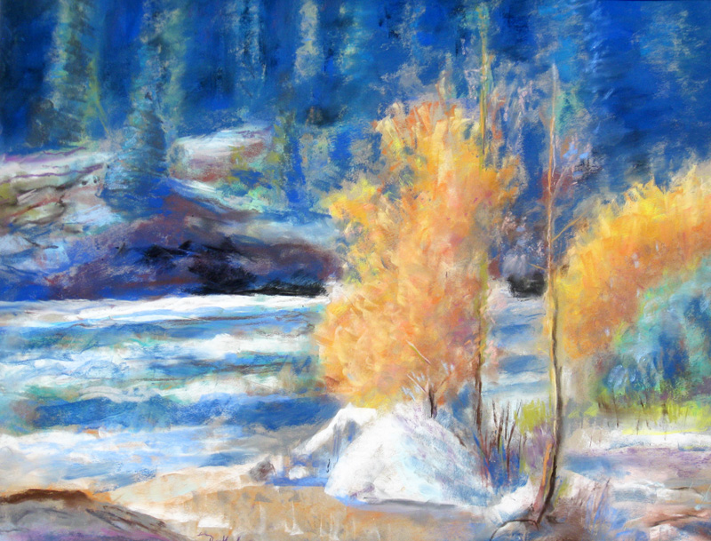 Light Breeze  (landscapes, Pastel) - Fine Art by Donald G. Vogl, Fort Collins, Colorado