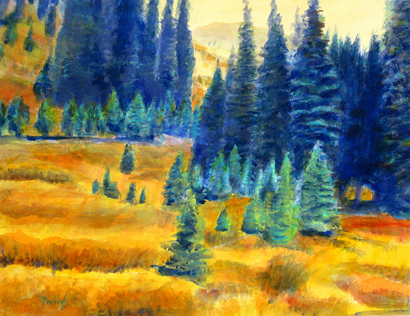 Loveland Pass Loveland Pass, Colorado (landscapes, Watercolor) - Fine Art by Donald G. Vogl, Fort Collins, Colorado