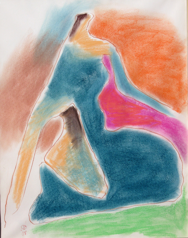 Maid  (abstracts figures, Acrylic) - Fine Art by Donald G. Vogl, Fort Collins, Colorado