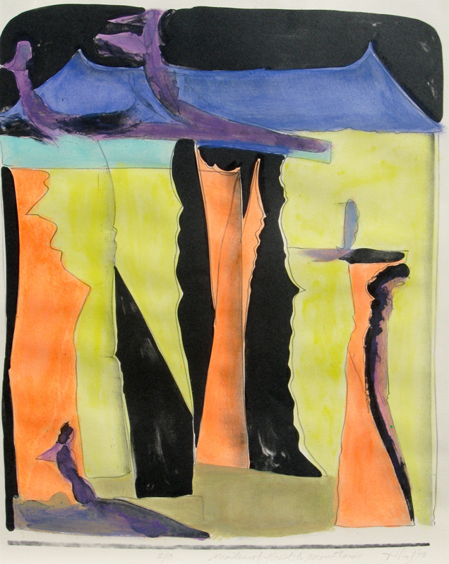 Maidens of Forest and Mountains  (abstracts, Lithograph) - Fine Art by Donald G. Vogl, Fort Collins, Colorado