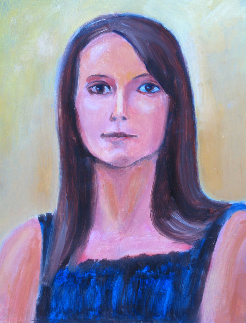Mandy  (portraits, Acrylic) - Fine Art by Donald G. Vogl, Fort Collins, Colorado