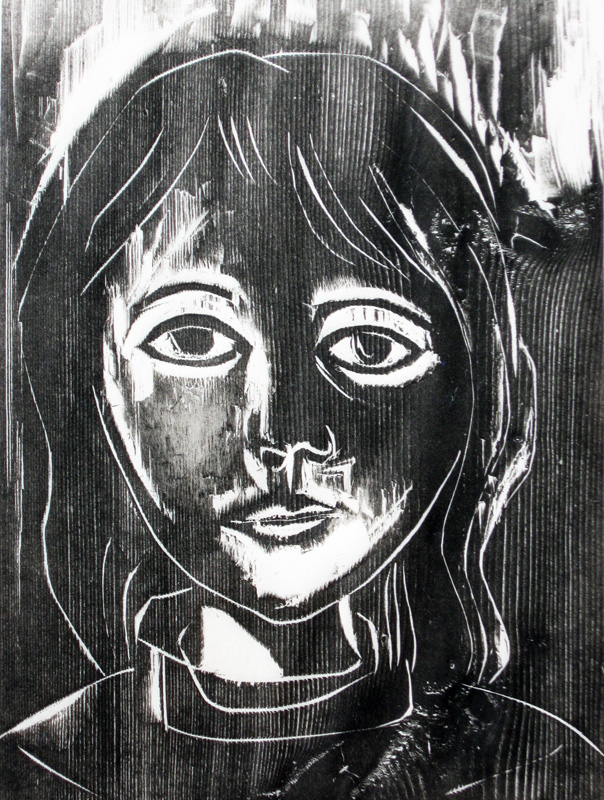 Mary Beth  (portraits, Woodcut) - Fine Art by Donald G. Vogl, Fort Collins, Colorado