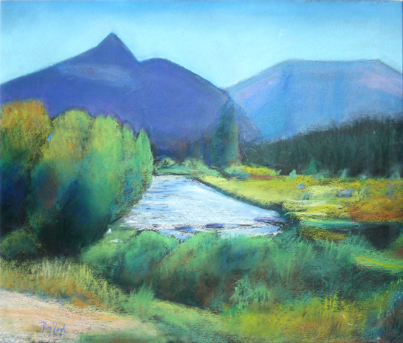 Meadow Stream Rocky Mountain National Park, Colorado (landscapes, Pastel) - Fine Art by Donald G. Vogl, Fort Collins, Colorado