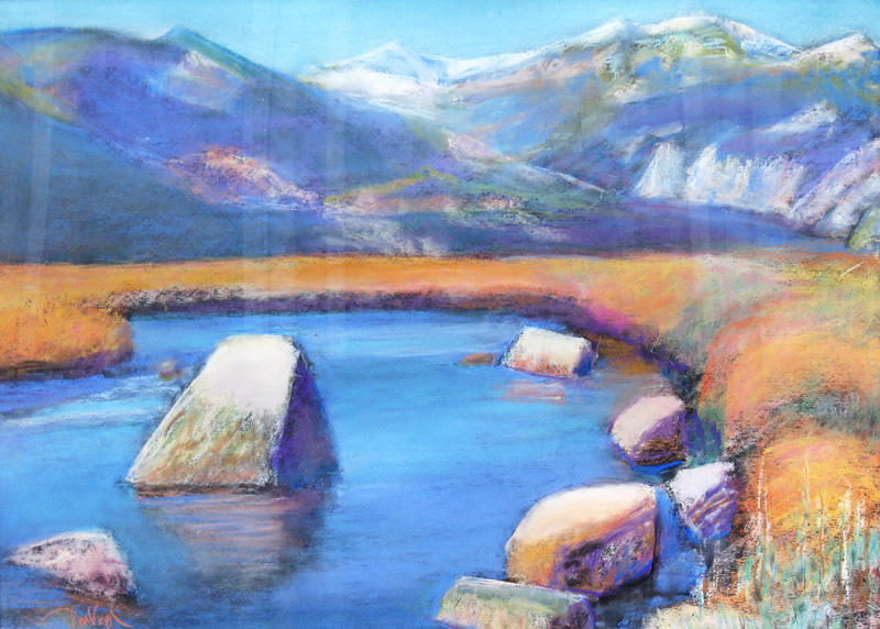 Meadows Rocky Mountain National Park, Colorado (landscapes, Pastel) - Fine Art by Donald G. Vogl, Fort Collins, Colorado