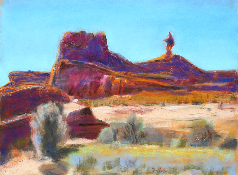 Mexican Hat Mexican Hat, Utah (landscapes, Pastel) - Fine Art by Donald G. Vogl, Fort Collins, Colorado