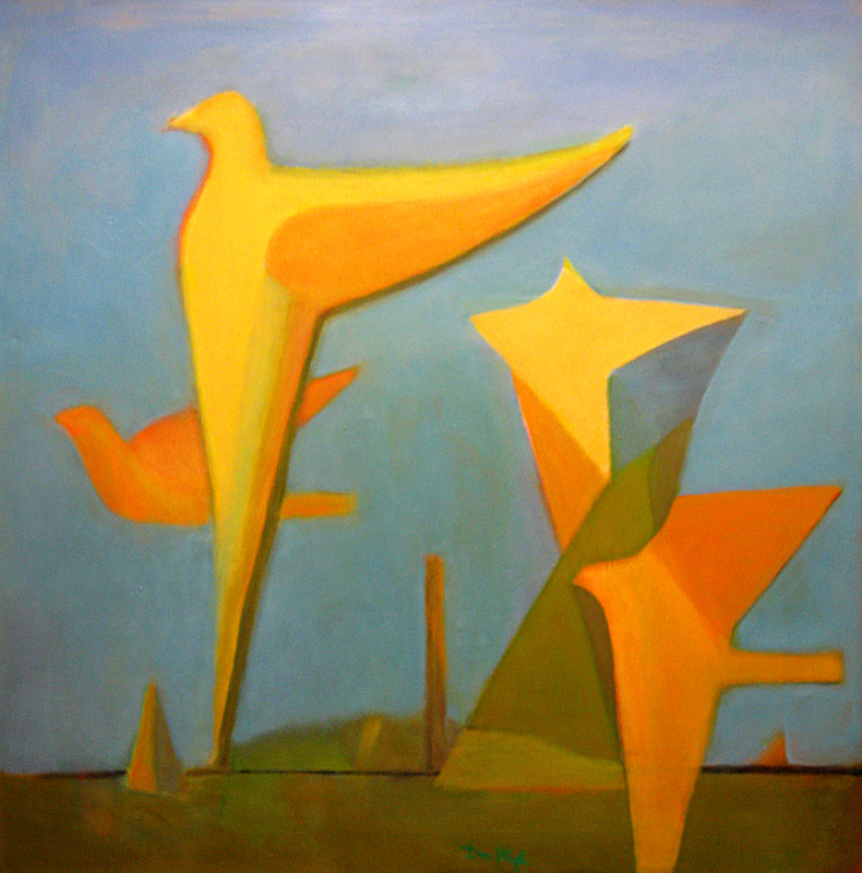 Migration  (abstracts figures, Oil) - Fine Art by Donald G. Vogl, Fort Collins, Colorado