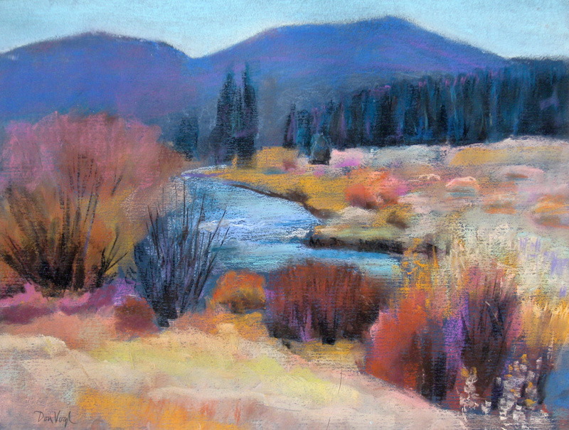Moraine Meadows Rocky Mountain National Park, Colorado (landscapes, Pastel) - Fine Art by Donald G. Vogl, Fort Collins, Colorado