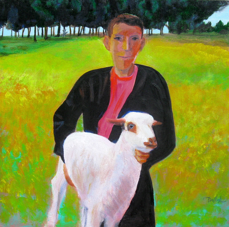 Moroccan Shepherd Morocco (portraits, Acrylic) - Fine Art by Donald G. Vogl, Fort Collins, Colorado