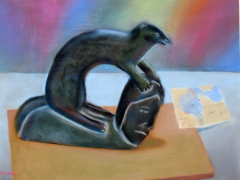 Native Canada  (still-lifes animals, Pastel) - Fine Art by Donald G. Vogl, Fort Collins, Colorado