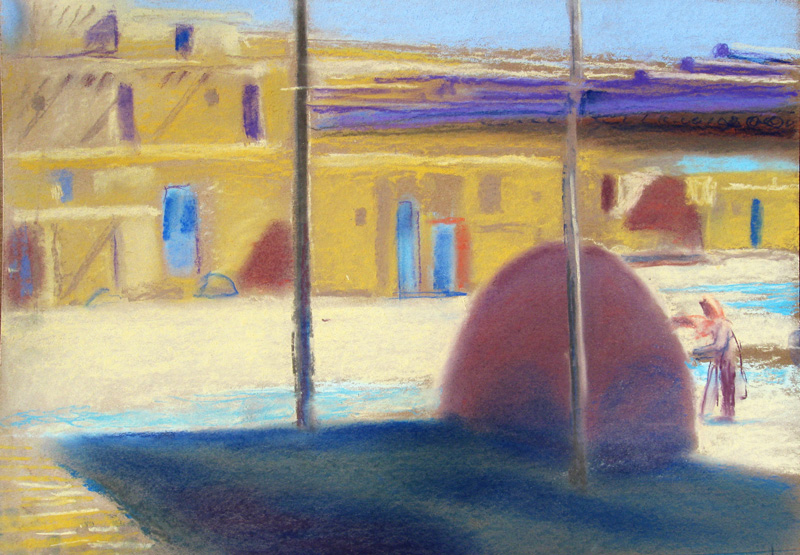 Navajo Kiln Taos, New Mexico (landscapes, Pastel) - Fine Art by Donald G. Vogl, Fort Collins, Colorado